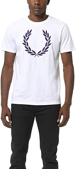 Fred Perry – Polo Mejor Laurel Slim Fit Blanco Blanco XX-Large ...