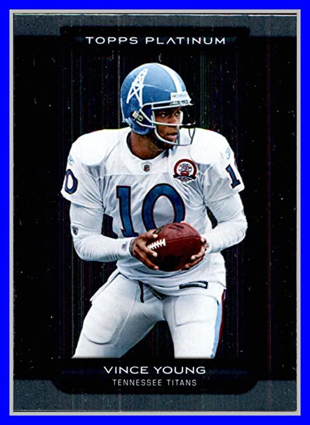 ae794adef Amazon.com  2010 Topps Platinum  13 Vince Young TENNESSEE TITANS TEXAS  LONGHORNS wearing HOUSTON OILERS Throwback  Sports Collectibles