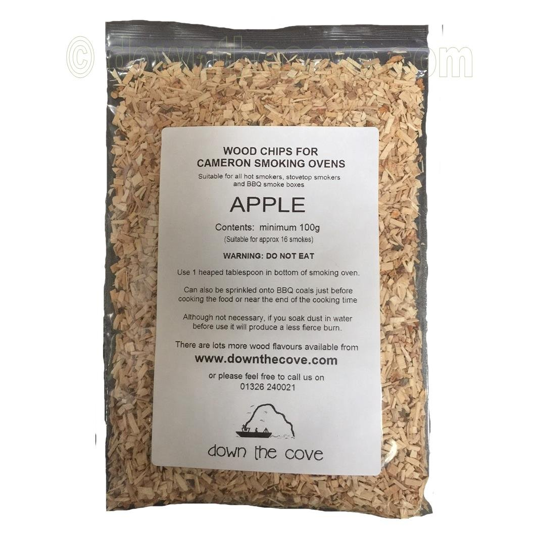 100g Apple Wood Chips / Wood Dust for Hot Smokers / Smoking Ovens / BBQ Various