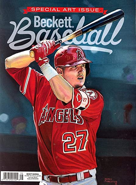 d48b1bf48 Amazon.com  Beckett Baseball Monthly Price Guide Magazine June 2019 Special  Art Issue Angels  Mike Trout  Sports Collectibles