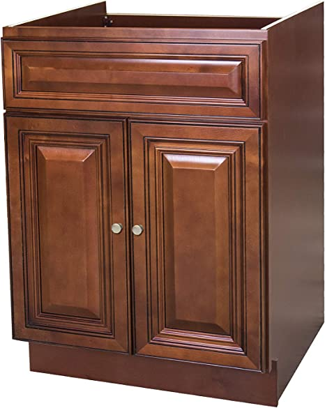 Amazon Com 30 X 21 Raised Panel Cherry Bathroom Vanity Cabinet Kitchen Dining