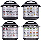 4 Pack Magnetic Cheat Sheet Compatible with Instant Pot Electric Pressure Cooker Accessories Food Images Magnet Cooking Times