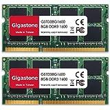 Gigastone DDR3 16GB (8GBx2) 1600MHz PC3-12800 CL11 1.35V SODIMM 204 Pin Unbuffered Non ECC for Notebook Laptop Memory Module