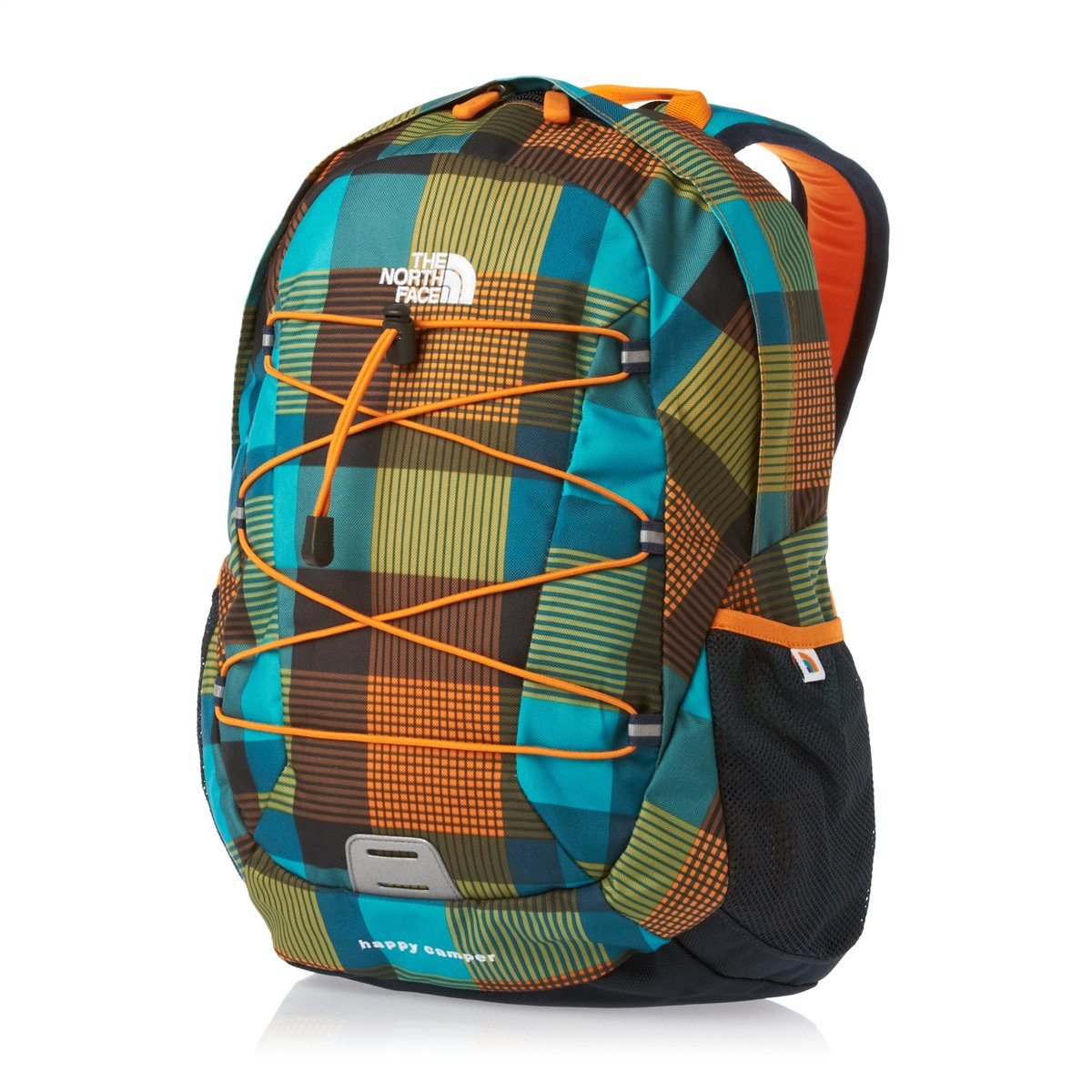 c96e13489 The North Face Kids Happy Camper Backpack - Safety Orange Plaid, 39x27x19cm
