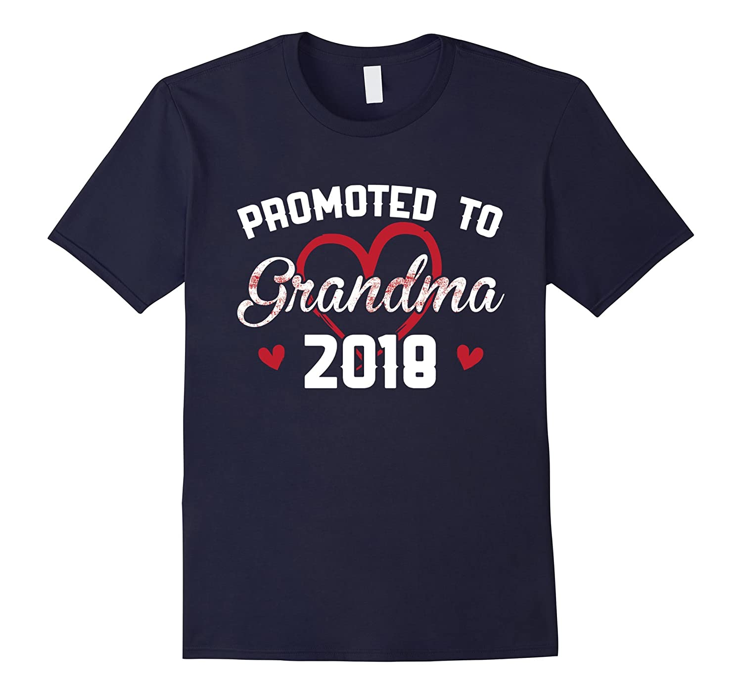 Promoted To Grandma 2018 Love Grandparents T-Shirt-FL