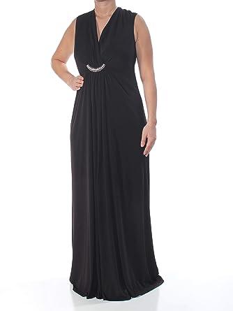 a33b5bc0c0ea Jessica Howard $129 Womens New 1398 Black Draped Rhinestone Gown Dress 14  B+B at Amazon Women's Clothing store: