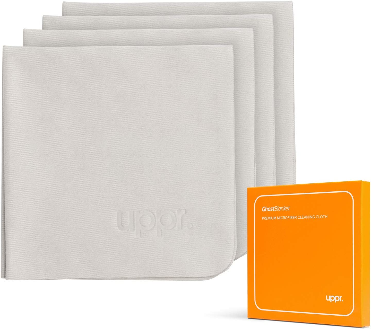 Paños de microfibra para pantallas 16 x 16 cm (Pack de 4)