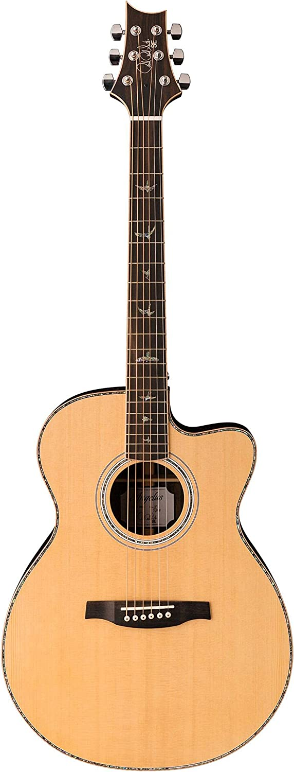 Natural PRS Paul Reed Smith SE T60E Tonare Acoustic Electric Guitar with Case