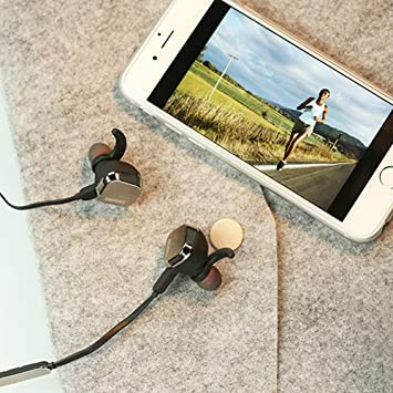 Amazon Com Remax Rb S2 Magnet Blutooth Headphones Runner Earbuds Sport Headsets With Mic Compatible With Iphone Android And Other Leading Smartphones Tarnish Electronics