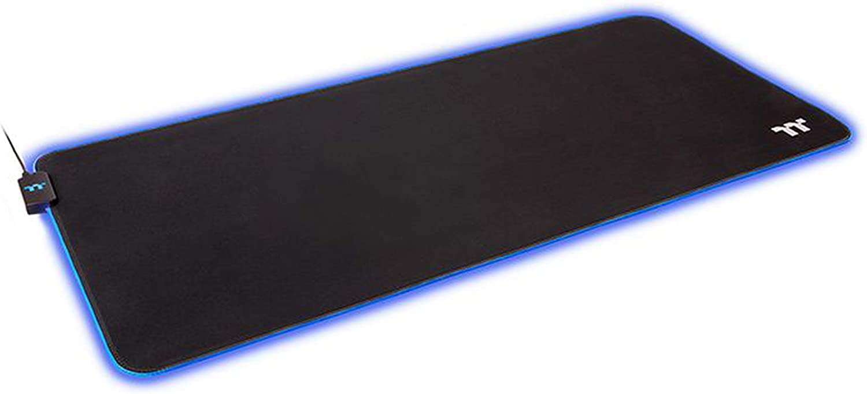 Thermaltake Level 20 RGB 16.8 Million RGB Color Software Enabled (TT RGB Plus/iTake/Alexa/Razer Chroma) Splash-Proof/Anti-Slip Rubber Base 900mm x 400mm Gaming Mouse Pad GMP-LVT-RGBSXS-01