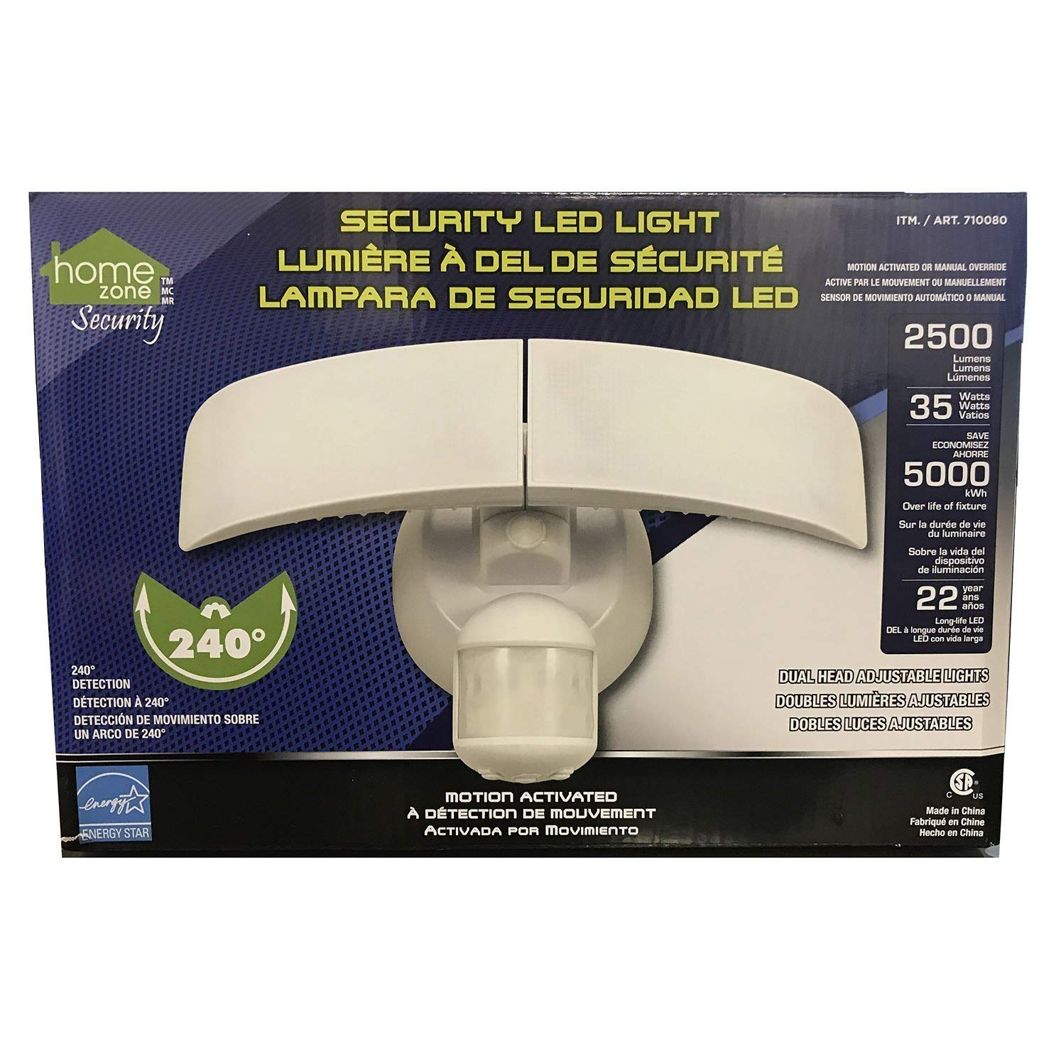 Home Zone Motion Activated LED Security Light - 2500 Lumens 35 Watts (Daylight) - - Amazon.com