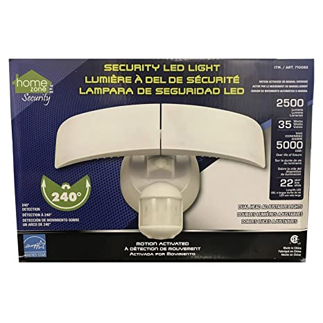 Home Zone Motion Activated LED Security Light - 2500 Lumens 35 Watts (Daylight)