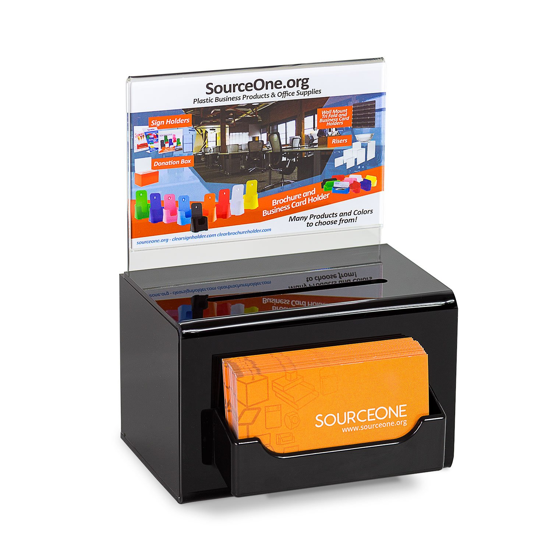 Amazon.com : SourceOne Acrylic Donation Box Oblong With Lock Keys ...