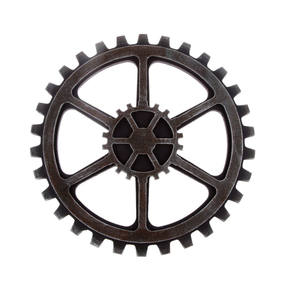50 off winomo 24cm vintage steampunk gear wheel home bar art craft wall decoration hexagon. Black Bedroom Furniture Sets. Home Design Ideas
