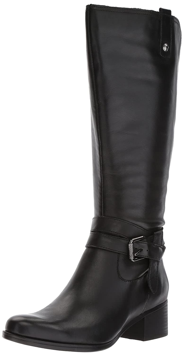 Naturalizer Women's Dev Wc Riding Boot B0725VRZCX 12 2W US|Black 1