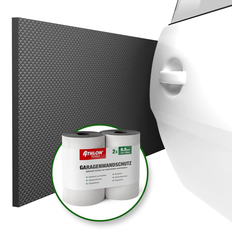 2er Set ATHLON TOOLS Premium Garagen-Wandschutz Grau Wasserabweisend Extra Dicker Auto T/ürkantenschutz Selbstklebend je 2 m lang