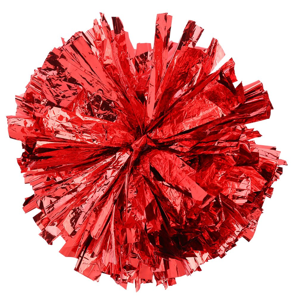 Alomejor Cheerleader Pom Poms Chear Poms fü r Sports Cheers Ball Dance Fancy Kleid Night Party Rot