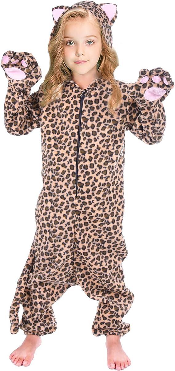 MMTX Boys Girls Animal Onesie Kids Unisex Onesies Unicorn Pyjamas Flannel Animal Sleepsuit Nightwear Hoodie Halloween for 3-12 Years Old Children Animal Jumpsuit Dress Up Costume