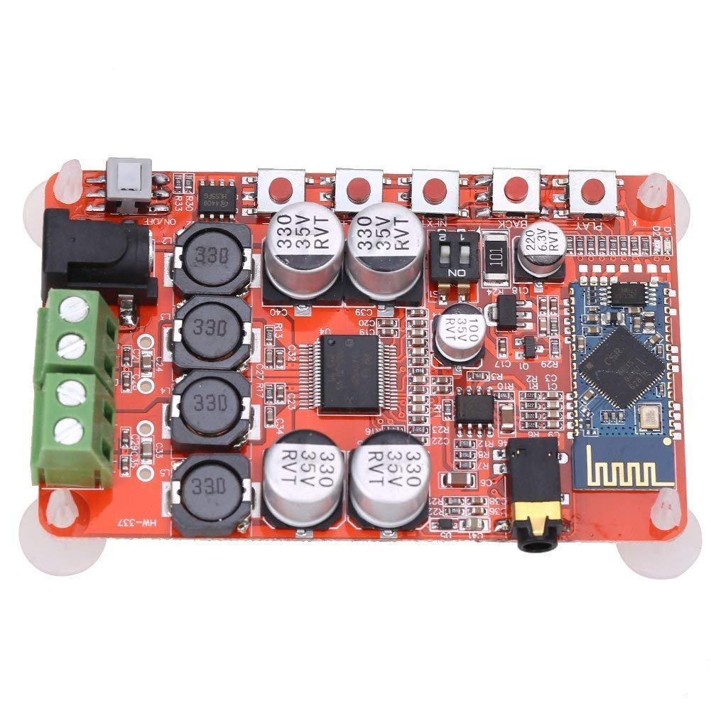 HiLetgo TDA7492P 50W+50W 250W Wireless Bluetooth CSR4.0 BT 4.0 Audio Receiver Digital Amplifier Board AMP