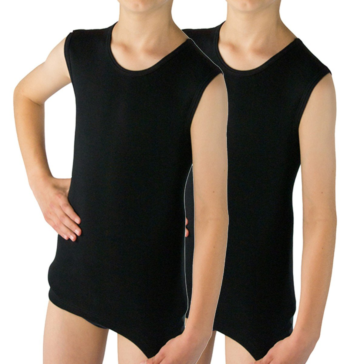 HERMKO 2040 2 Pack Boys' Vest