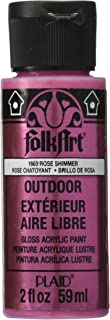 product image for FolkArt Outdoor Acrylic Paint in Assorted Colors (2 Ounce), 1665 Metallic Rose Shimmer