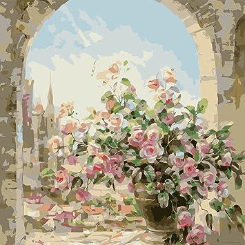 Kayi Diy Digital Peinture A L Huile Rose Rose Peinture Par Numero