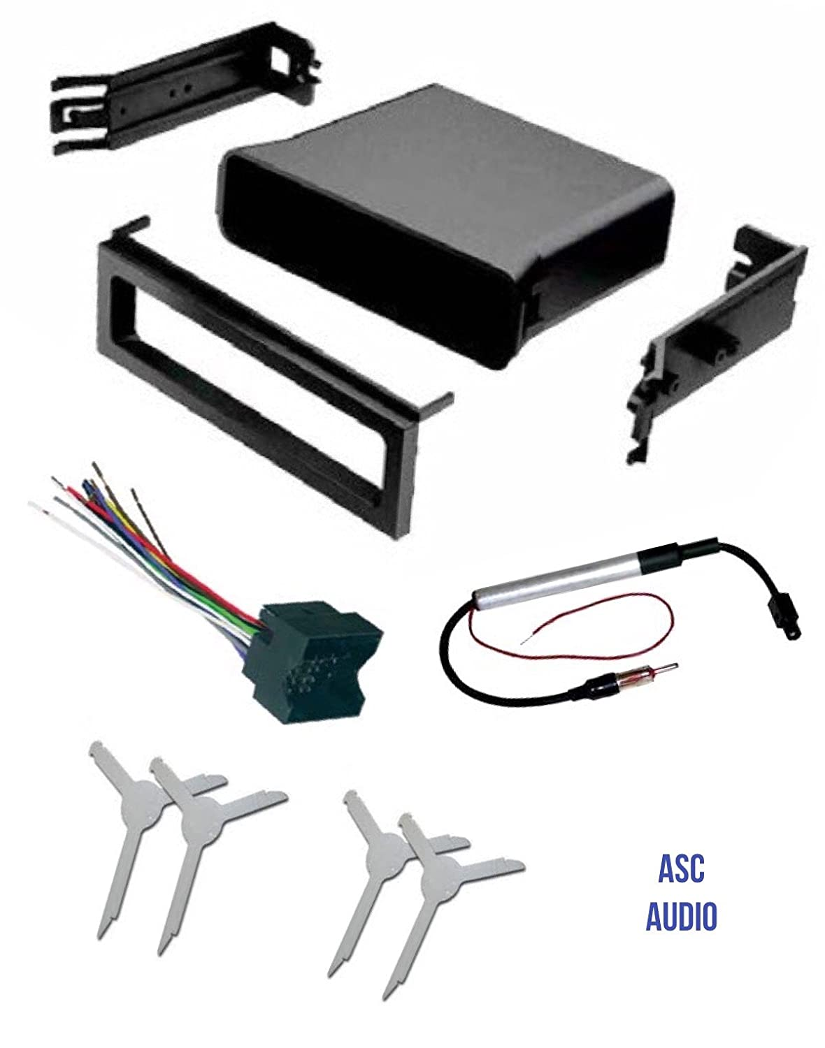 ASC Audio Car Stereo Dash Pocket Kit Antenna Adapter and Radio Removal Tool for installing a Single Din Radio for select VW Volkswagen Vehicles Wire Harness Compatible Vehicles Listed Below Other