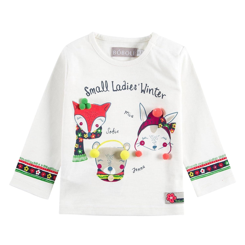 boboli 222051 - Camiseta Punto Liso para Bebe - Niñas color 1111 talla 9M
