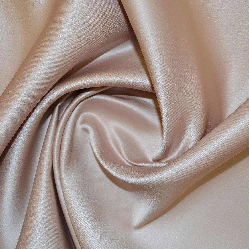 Beige Duchess Satin Fabric