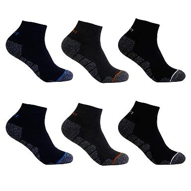 L K 6 Paar Herren Thermo Sneaker Socken Bambus Sportsocken Dicke