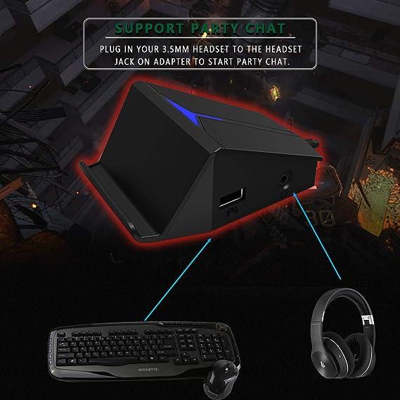 Darkwalker FO214 Adaptador para Teclado y Ratón de Juegos FPS ...