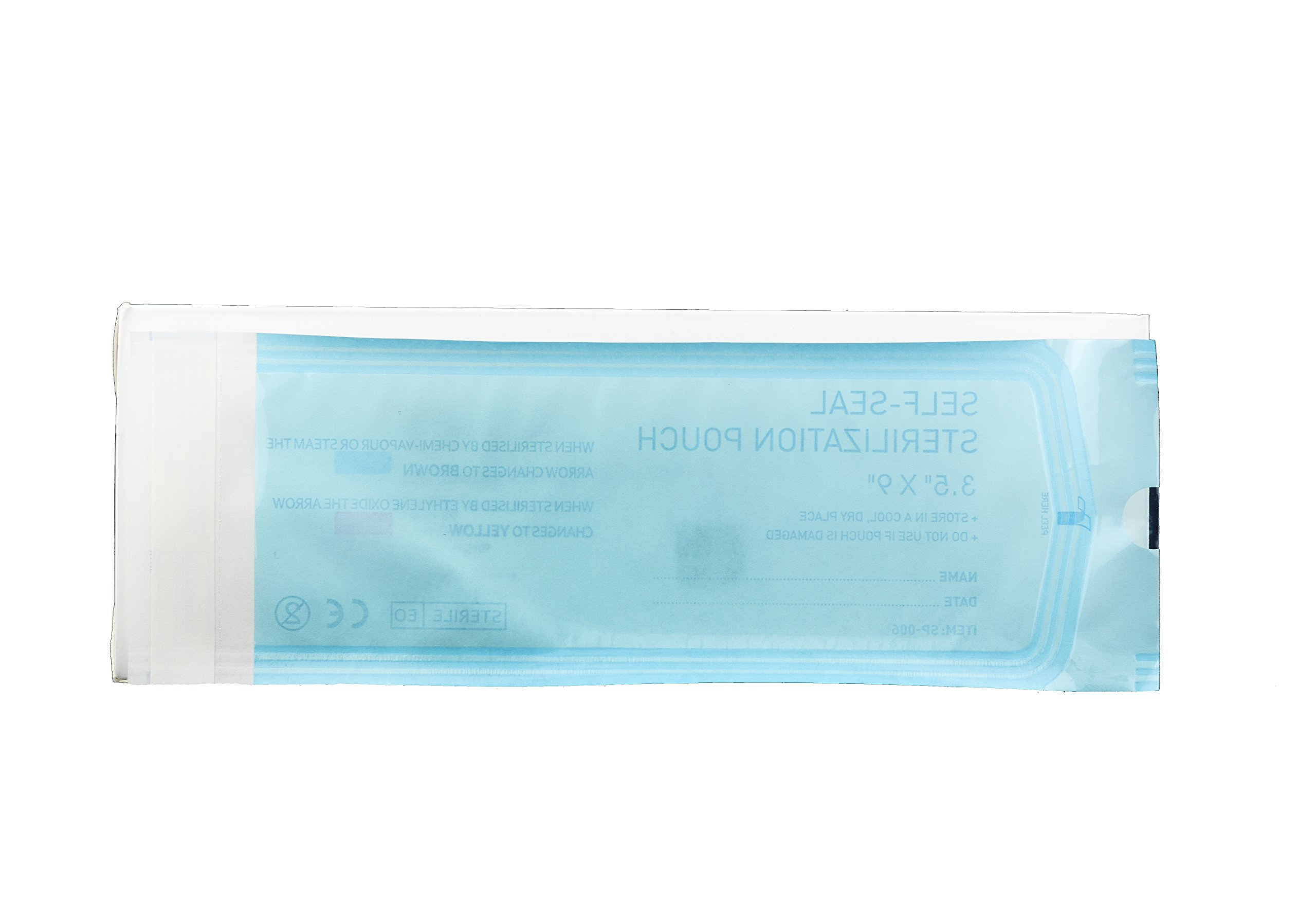 "Sterilization Pouches Self-sealing Autoclave Bags _ Size: 3.5"" x 9"" _ (5 Boxes of 200) 1000 Count (Made of Highest Grade Materials) Manufactured by P&P Medical Surgical LLC"