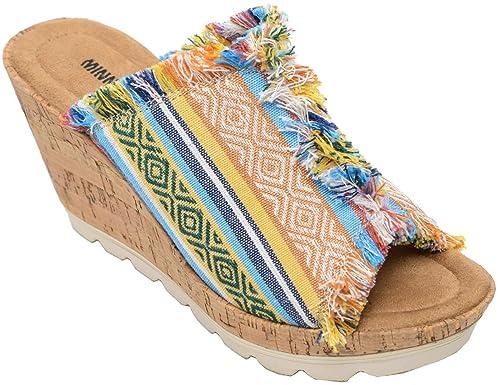 9817707a8da Minnetonka Women s York Wedge Sandals by Minnetonka
