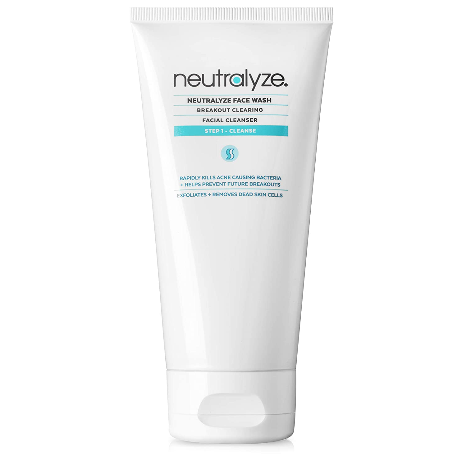 Neutralyze Moderate To Severe Acne Face Wash 2.0 - Maximum Strength Face Wash For Acne Prone Skin with 2% Salicylic Acid + 1% Mandelic Acid + Nitrogen Boost Skincare Technology