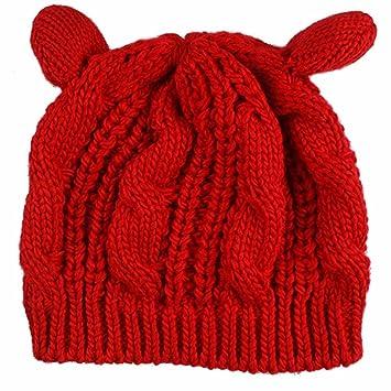 Cdet Frauen Hut Damen Winter Stricken Häkeln Geflochtene Katzenohren