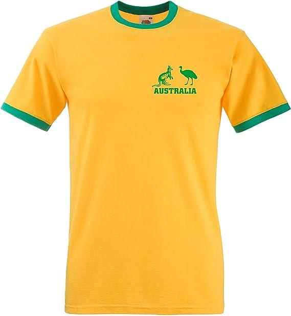 Australia Nacional Rugby / Cricket / Fútbol / fútbol / Socceroos Camiseta del equipo camiseta: Amazon.es: Deportes y aire libre