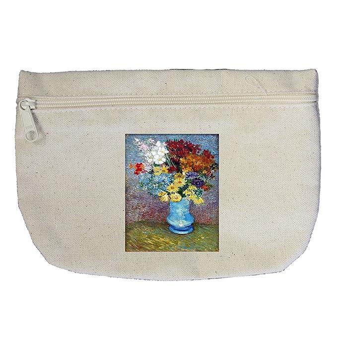 Amazon Flowers In A Blue Vase Van Gogh Canvas Makeup Bag