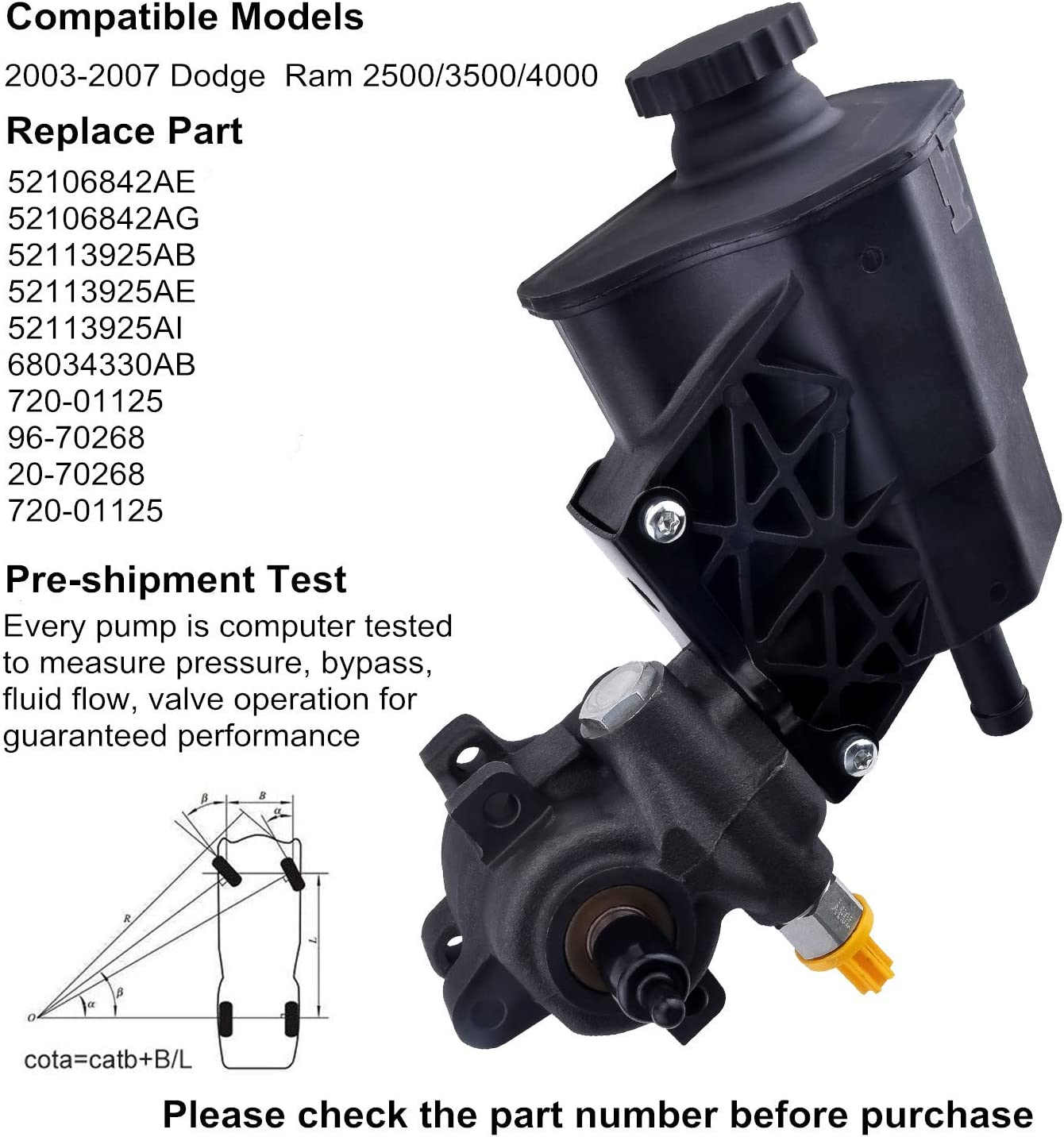 EVIL ENERGY Power Steering Pump Power Assist Pump Replacement Compatible with GM Chevrolet Silverado 2500HD//3500 GMC Sierra Yukon XL