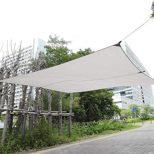 Lona (4 X 3 M, Beige) Gris Sombra Vela Rectangular Jardín Impermeable Toldo Toldo Toldo Con Bolsa De Almacenamiento Al Aire Libre Industria de la construcción (color : Blanco, Tamaño : 5*4.5m) : Amazon.es: Jardín