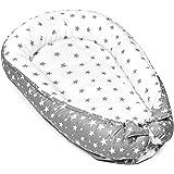 nido bebe recien nacido - reductor de cuna nidos para bebes cojin colecho gris blanco con estrellas 90 x 50 cm