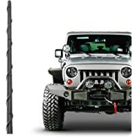 KSaAuto Short Antenna Fits for Jeep Wrangler JK JKU JL JLU Rubicon Sahara Gladiator 2007-2020   13 Inch Flexible Rubber…