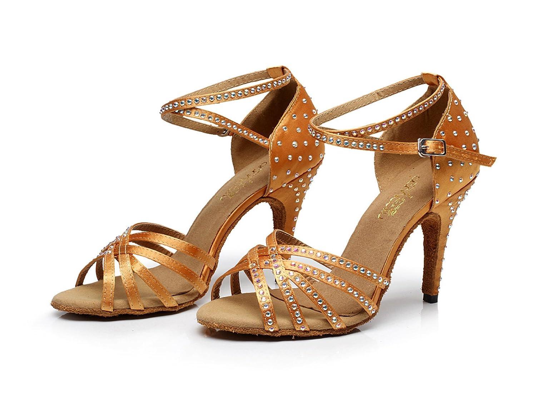 JSHOE JSHOE JSHOE Frauen Sexy Salsa Jazz Tanzschuhe Ballsaal Latin Tango Party Tanzschuhe High Heels,Gold-heeled10cm-UK5/EU37/Our38 - 7311eb