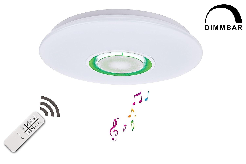 TEVEA® LED RGB Deckenleuchte 32W 1800lm   Ø50cm   Deckenlampe   Led Lampe   Dimmbar   Lautsprecher Integriert   Nachtlicht (32W - RGB)