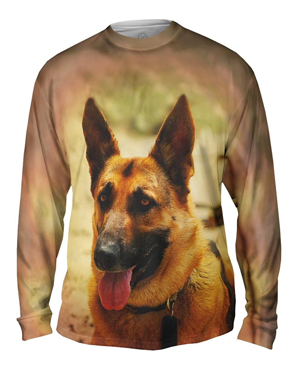 TShirt German Shepard Yizzam Mens Long Sleeve