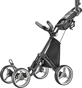 CaddyTek Explorer V8 - SuperLite 4 Wheel Golf Push Cart, Explorer Version 8
