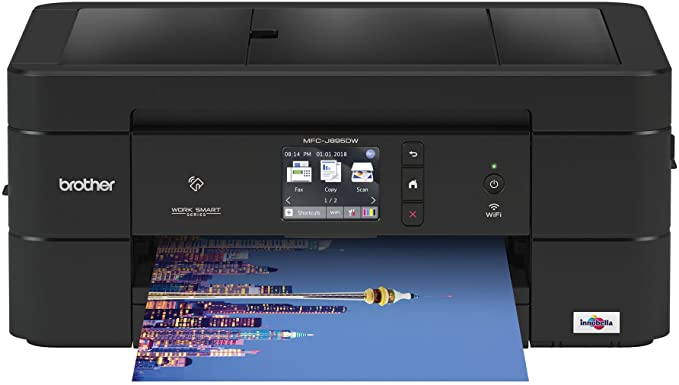 Brother Wireless All-in-One Inkjet Printer, MFC-J895DW, Multi-function Color Printer, Duplex Printing, NFC One Touch to Connect Mobile Printing, ...