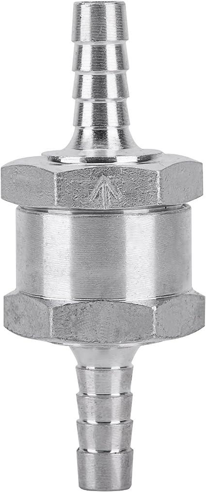 Valvola di non ritorno unidirezionale per auto diesel in alluminio cromato da 6/mm per benzina olio acqua
