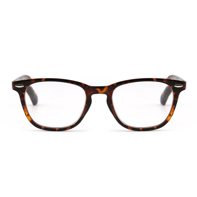 30df8eb3257 Amazon.com  Retro Reading Glasses Spring Hinge Tortoiseshell Eyeglasses  Readers Men Women Eyewear for Reading +1.5  Health   Personal Care