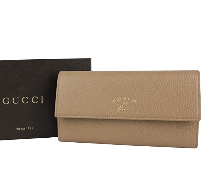 08d9ddf52a6369 Image Unavailable. Image not available for. Colour: Gucci Light Brown  Leather Wallet With Coin Pocket ...