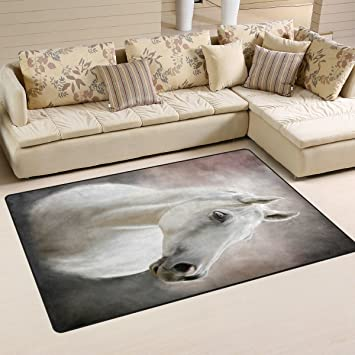 Peachy Jstel Ingbags Super Soft Modern White Horse Area Rugs Living Download Free Architecture Designs Scobabritishbridgeorg